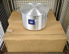 4x Pardini casserole pans - H30cm x W45cm - with lids