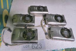 5x Canon IXUS 960IS Digital Cameras