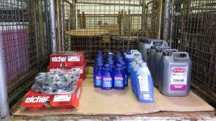Vehicle parts - Eicher brake discs, Carplan screen wash, Mobil screenwash, Carlube Driveli