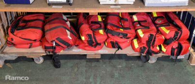12x Red Medical Bags - various makes