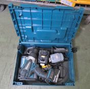 Makita DHP458 Hand Drill 2 Batteries 1 Charger In A Case