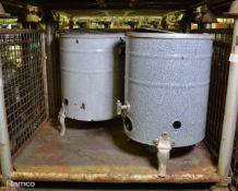 2x Vintage Dean Gas Water Boilers