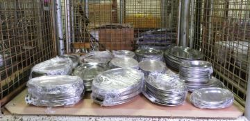 Various Size Stainless Steel Oval Flat Servery Dishes