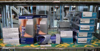 3x BioSkin Standard Ankle Skin Size Small, Emma Emergency Capnometer, 2x Bauerfeind Stabil