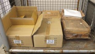 12.5L Royal concave bowls - 6 per box - 4 boxes, Glass jars - 48 per box - 2 boxes