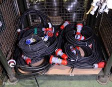 9x Electric Power Extension Cable With 32A 3Ph Couplings, 2x Electric Power Extension Cabl