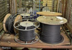 Various Satellite Cable - Unknown Lengths - 5 reels