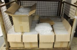 6in smooth plastic test tubes - approx. 1000 per box - 7 boxes