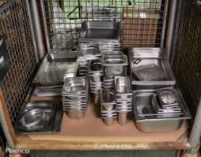 Various Stainless Steel Food Containers
