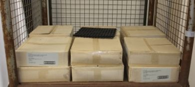 Interlocking shelf mats 13in x 13in black - 12 per box - 12 boxes