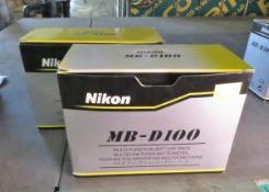2x Nikon MB-D100 Multi Function Battery Packs