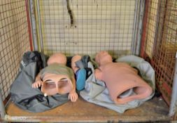 2x Resusci Anne medical training dummies