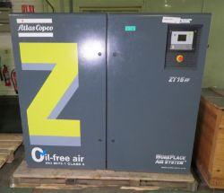 Atlas Copco ZT 15 FF industrial compressor - oil-free air - serial AP1785644 - 8.4 bar - 1