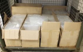 6in smooth plastic test tubes - approx. 1000 per box - 6 boxes