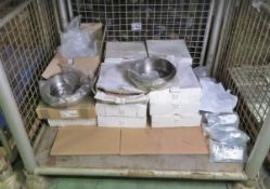 Vehicle parts - hose clips, brake drums - see picture for itinerary for model numbers and