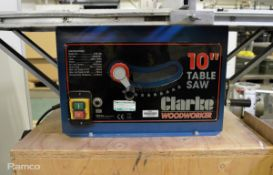 Clarke Woodworker CTS100 10 inch Table Saw - 240v