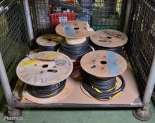 Various reels of miscellaneous cable - unknown lengths