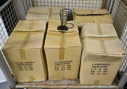 Metal black conical chip servers - 24 per box - 5 boxes