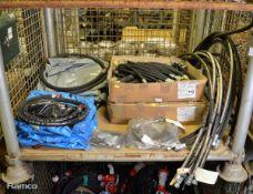 2x Hydraulic Hose Sets, Various Hose Assemblies