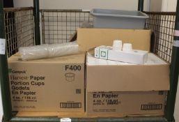 Gen Pak Harvest paper cups 4oz / 118ml - 250 per carton - 20 cartons per box - 2 box, Grey