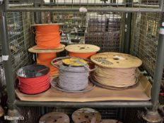 Various Cat 5 Cable - Unknown Lengths - 6 reels