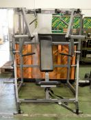 Hammer Strength motion technology plate seated Iso Lateral decline press