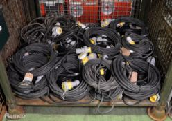 40x Blakley Electric Extension Cable With 16A -4H 110v Couplers