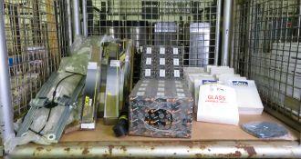 Vehicle parts - fuel filters, RH mirror glass, shock absorbers, RH window regulators - see