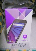 5x Motorola Moto G 3rd Gen - Pay As You Go Mobile Phones