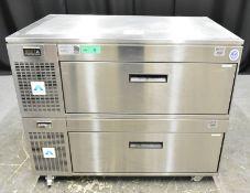 Adande Under Counter Double Drawer Fridge Unit - Model VCS R2 - L1100mm x W700mm x H900mm