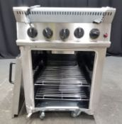Parry 4 Burner Gas Oven - Model GB4 Serial No.060160104 - L610 xW770 x H850mm - PLEASE SEE