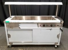 Parry Mobile Bain Marie Servery with Light Unit - Model MSB15G Serial No.170360050 -L1630m