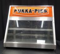 Pukka Pie Display Cabinet rear opening - Model P16R - L610 x W430 x H600mm