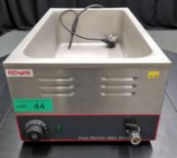 Red One Bain Marie - Model ROBM - L350 x W560 x H250mm - PLEASE SEE PICTURES FOR DAMAGE