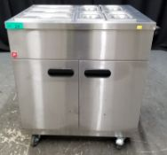 Parry Mobile Servery with containers - Model 1887 Serial No.170030823 - L870 x W620 x H940
