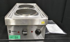 Parry Electric Double Hob - Model N1870 Serial No.160150240 L300 x W600 x H210mm