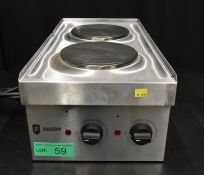 Parry Electric Double Hob - Model N1870 Serial No.160150225 L300 x W600 x H210mm