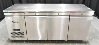 Williams Three Door Refrigerated Counter- Serial No, 1110/634414 Model, HJC3SA R1 JADE, L
