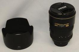 Nikon DX AF-S Nikkor 17-55mm 1:2.8 G ED Lens - Serial No. - 331419 with Nikon HB-31 Lens Hood