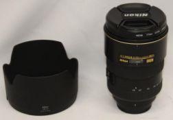 Nikon DX AF-S Nikkor 17-55mm 1:2.8 G ED Lens - Serial No. - 332048 with Nikon HB-31 Lens Hood