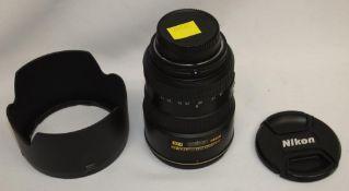 Nikon DX AF-S Nikkor 17-55mm 1:2.8 G ED Lens - Serial No. - 326611 with Nikon HB-31 Lens Hood