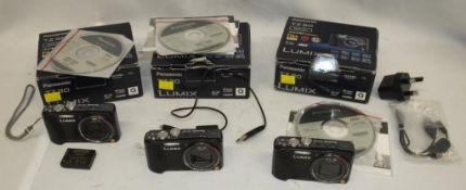 3x Panasonic Lumix TZ-30 digital cameras