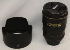 Nikon DX AF-S Nikkor 17-55mm 1:2.8 G ED Lens - Serial No. - 330860 with Nikon HB-31 Lens Hood