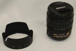 Nikon DX AF-S 18-70mm 1:3.5-4.5G ED Lens with Jessops Ultra Violet 67mm Filter and Nikon HB-32 Hood