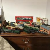 A large collection of Hornby Dublo including Oliver Cromwell, miscellaneous steam engines