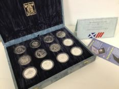 A Commonwealth Games 1986 silver proof Commemorative Collection of twelve various Olympian Sport