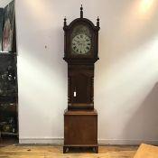"""A large mid-19th century mahogany longcase clock, inscribed J. Blagburn of Gateshead, the 14"""""""