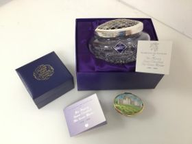 Royal interest: an Edinburgh Crystal rose bowl celebrating the Centenary of the Queen Mother,
