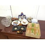 A mixed lot including a George VI and Queen Elizabeth commemorative plate, cup and saucer, also a