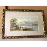 Amy McSchofield Blackstone, Loch in Mountains, watercolour, inscribed verso (17cm x 33cm)
